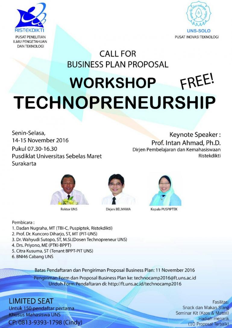 Workshop Technopreneurship