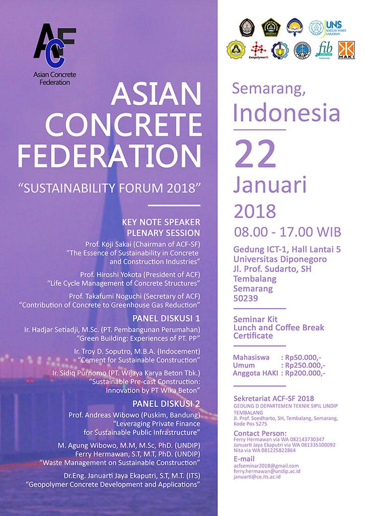 Asian Concrete Federation - Sustainability Forum 2018
